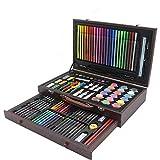 Conjunto de Arte 130 Conjuntos de Herramientas del Sistema de Cepillo de los niños papelería Pluma de la Acuarela Arte Aprendizaje papelería Pintura Pintura Suministros para Niños Dibujo y Pintura