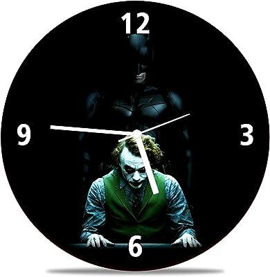Huppme Joker Batman Dark Knight Round MDF Wooden Wall Clock (28 cm x 28 cm x 1.5 cm)
