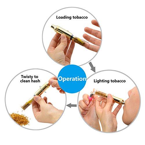 Product Image 4: ATMAN Pipa de Fumar, King Goldenfish Tabaco/Hierba Seca con Tubo de Cuarzo Resistente al Calor Portátil Tubo Desmontable, sin nicotina