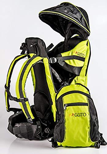 GUTO Deluxe Backpack Mochila portabebé, Adultos Unisex, Verde, Grande