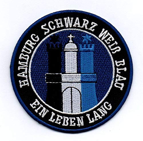 Hamburg - Aufnäher, Bügelbild, Stickbild, Iron on Patch
