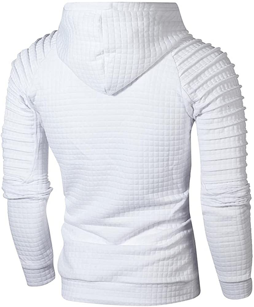 Aayomet Mens Shirts Fashion Long Sleeve Pleated Round Neck Comfy Mens Sweatshirts Workout Sport Casual Hoodies