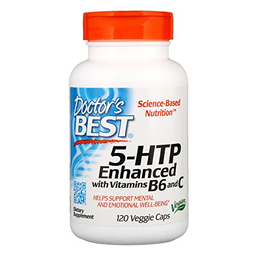 Doctor's Best 5-HTP Enhanced with Vitamins B6 & C, Non-GMO, Vegan, Gluten Free, Soy Free, 120 Veggie Caps