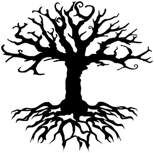 Samunshi® Aufkleber Yggdrasil für Auto Motorrad Weltenbaum Baum des Lebens in 13 Größen und 25 Farben (10x10cm schwarz)