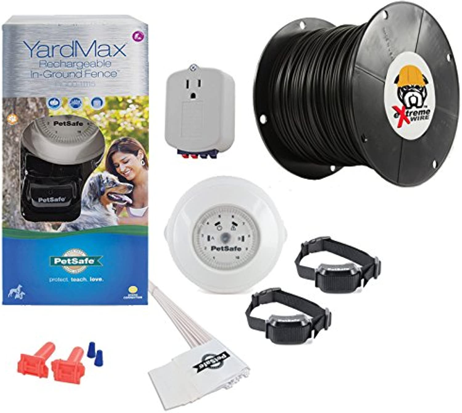 PetSafe Yardmax Rechargeable InGround Dog Fence  Upgraded eXtreme Brand Wire