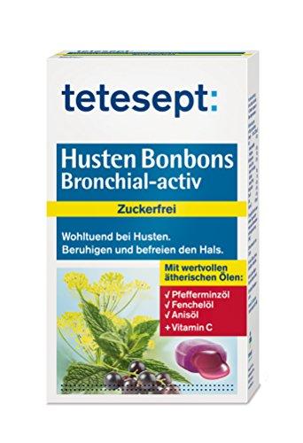 tetesept Husten Bonbons Bronchial-activ zuckerfrei, 5er Pack (5x 75 g)