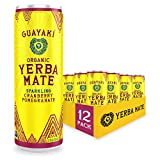 Guayaki Yerba Mate | Organic Alternative to Herbal Tea, Coffee and Energy Drink | Sparkling Cranberry Pomegranate | 80 mg of Caffeine | 12 Oz | Pack of 12