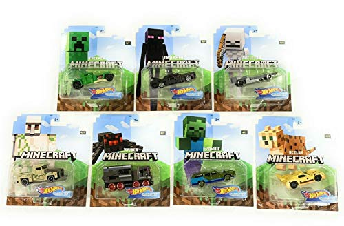 Hot Wheels 2020 1:64 Gaming Characters Cars Minecraft Complete Set of 7