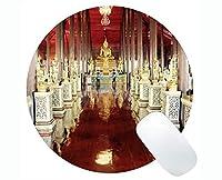 Life Quotes Gaming Round Mouse Pad Custom、Bangkokあなたが支払うものを得るステッチされたエッジの丸いマウスパッド