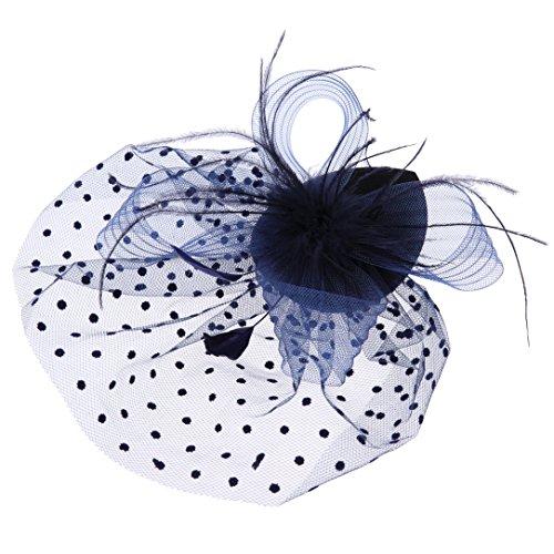 Bluemixc plumes Net Clip Chapeau bibi Mariage Mesdames Jour Race Royal Ascot