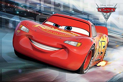 Disney Autos 3 'McQueen Rennen' Maxi Poster, 61 x 91.5 cm Mehrfarbig