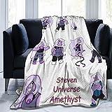 Steven Universe Amethyst Blanket Lightweight Flannel Fleece, Throw Blanket for Sofa Bed Living Room, Ultra-Soft Blanket Fashion Print Warm Air Conditioning Blankets