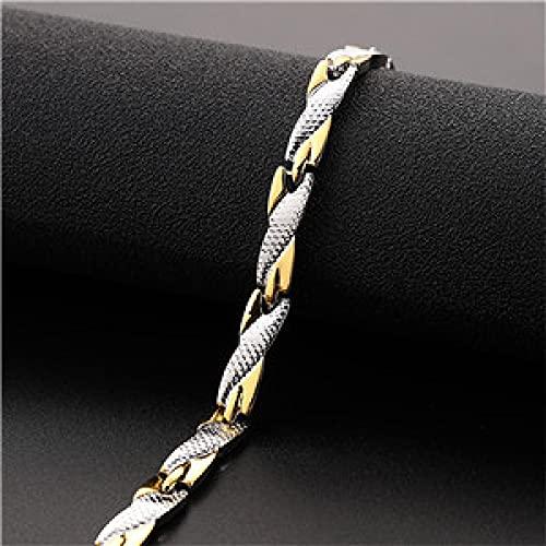 Secuos Pulsera Mujer Dragon Pattern Twisted Bracelets Brazaletes para Hombres Pulsera para Mujeres Silvergold