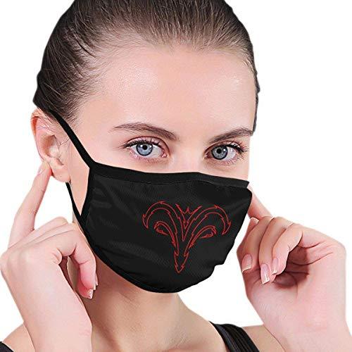 Rode en zwarte stamband voor volwassenen en kinderen, print smoke allergieën, herbruikbare neusbescherming, koud weer, bivakmuts, huishoudgezichtsbehandeling
