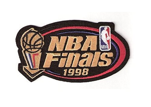 MAREL Patch 1998 NBA Finals Warm Up Jerseys Patch Chicago Bulls Utah Jazz Replica