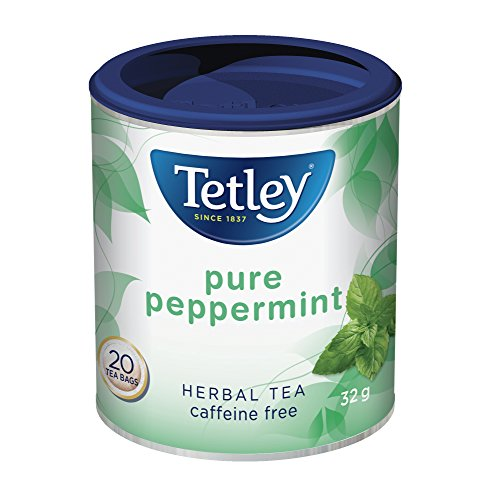 Tetley Pure Peppermint Herbal Tea 20ct 32g/1.1oz Imported from Canada