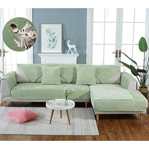 Pxyaz Funda de sofá esquinera de Felpa, Moderna Toalla Antideslizante para sofá, Funda para sofá seccional para Sala de Estar, multitamaño, 1 Pieza, 05, 90 * 210cm