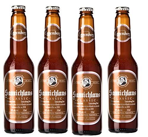 4 Flaschen Samichlaus Classic Bier Starkbier mit 14% Alc.