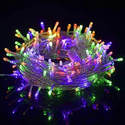 LJLNION 300 LED Indoor Fairy String Lights, 8 Lighting Modes Light, Plug in String Waterproof Mini Lights for Outdoor Holiday Christmas Wedding Party Bedroom Decorations (Multicolor)
