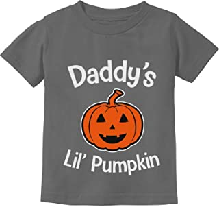 Halloween Daddy's Lil' Pumpkin Cute Jack O' Lantern Infant Kids T-Shirt