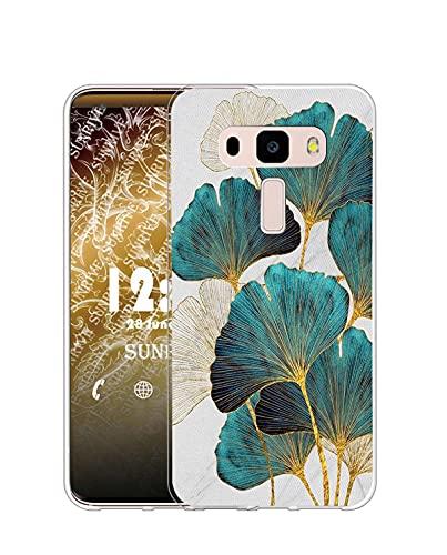 Sunrive Kompatibel mit Asus Zenfone 3 ZE552KL Hülle Silikon, Transparent Handyhülle Schutzhülle Etui Hülle (Q Blatt)+Gratis Universal Eingabestift MEHRWEG
