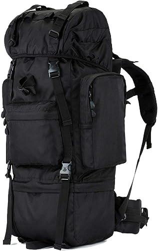 XQY Trekking Rucksacks Back Sac à dos de randonnée - Sac à dos de randonnée noir, Sac à dos imperméable Sport Voyage en plein air Voyage Trekking Running Mens Large Capacity,100L