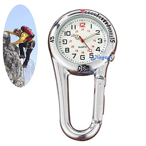 GORBEN Carabiner Watch FOB Quartz Luminous Belt Watch for Doctors Nurses Paramedics