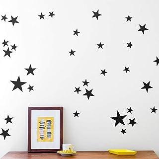 110Pcs Stars Wall Decal Vinyl Sticker, Removable Children Kids Art DIY Sticker Mural for Boy Girls Baby Room Decoration Go...