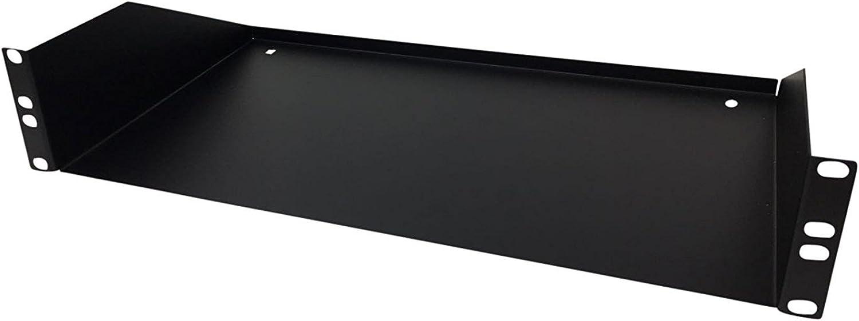 KENUCO 2U 19'' Universal Rack Shelf   10.5  Deep   Heavy-Duty   Steel   80lbs Capacity