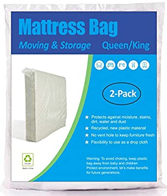 ComfortHome 2 Pack Mattress Bag for Moving and Storage, Queen/King Size by Phetronix