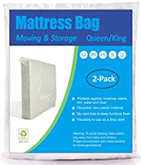 Size: Fits Queen and King Size Mattress(76 × 84 inch) with height up to 14 inches(≤14 inches). Please see the attached size guide picture to select a suitable plastic bag. Economical: Includes 2 bags made of 1.5 Mil polyethylene material. If you want...