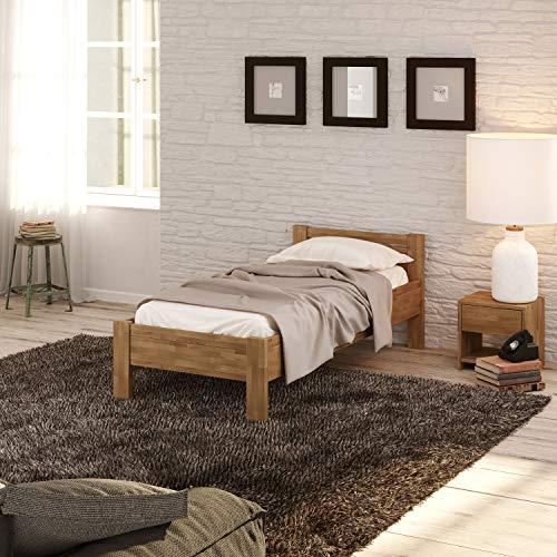 Krok Wood Seniorenbett SiSi aus Massivholz (Eiche, 100 x 200 cm)