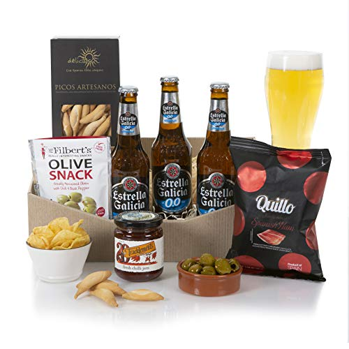 Alcohol Free Beer Hamper - Non Alcoholic Beer Hampers - Beer Gift Hampers & Chilli Snacks