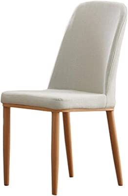 Dining Room Household Dining Table and Chair Hotel Restaurant Simple Dining Chair (Color : White, Size : 90 * 44 * 46cm)