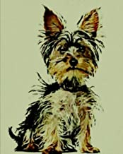"""Yorkshire Terrier: 8"""" x 10"""" Artified Pets Journal/Notebook/Diary 140 Pages"""