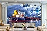 Fotomural 3D Crucero Por El Mediterráneo Tv Fondo Papel Pintado Pintura De Pared