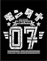 【FOX REPUBLIC】【モンタナ アメリカ ロゴ】 黒光沢紙(フレーム無し)A4サイズ