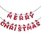 OULII 3.5M Natale Bandiera ghirlande Merry Christmas Decorazione dell'albero di Natale Fes...