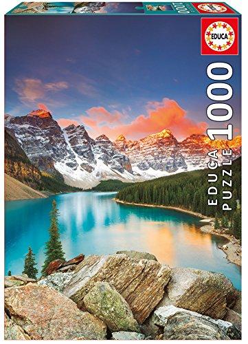 Educa - Lago Moraine, Banff National Park, Canadá Puzzle, 1000 Piezas, Multicolor (17739)