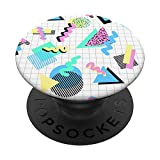 Retro 80's 90's Geometric Pattern Pop Socket PopSockets PopGrip: Swappable Grip for Phones & Tablets