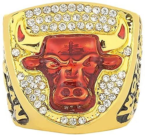 AUTOTUO 1993 NBA Chicago Bulls Jordan Equipo Campeonato Anillo Anillo para Hombre, Campeonato Personalizado Anillo de imitación Anillo de Diamante para Hombre, Caja, 10 12号