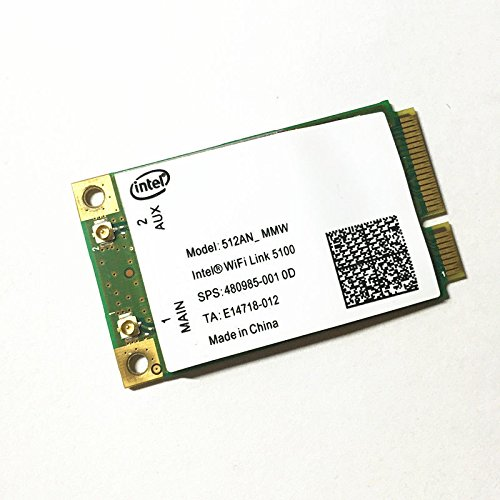 Wireless Adapter Card for 5100 5100agn WiFi 512AN_MMW 300Mbps Mini Full PCI-E...