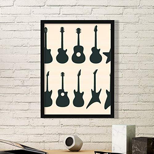DIYthinker Guitarra eléctrica Música vitalidad Sonidos Simples de Fotos Marco de Cuadros...
