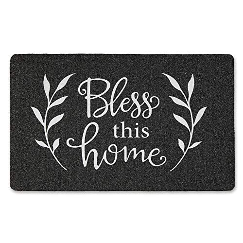 SoHome Welcome Door Mat, Outdoor Door Mat Made from Durable Natural Rubber, Non Slip Backing, Ultra Absorbent, Easy Clean, Ideal Indoor Door mat for Entry Way, 18'x30' Bless This Home