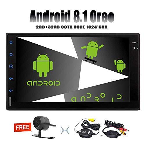 7 Pouces ¨¤ ¨¦Cran Tactile capacitif Android 8.1 Car Stereo Octa GPS Navigation de Base Voiture Radio en Dash Double Din Lecteur vid¨¦o 1080P Soutien Bluetooth FM/AM/RDS Commandes au Volant USB