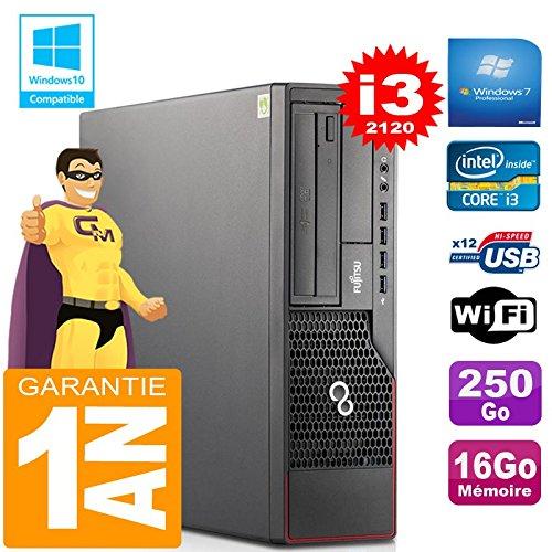Fujitsu PC Esprimo E700 E90+ SFF Core I3-2120 RAM 16 GB Scheibe 250 GB Wifi W7 (Generalüberholt)
