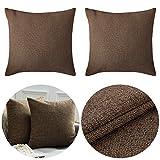 BESLIME Throw Pillow Case 2pcs Lino Throw Pillow Case, Sofá Throw Cojín, Funda de Almohada para Cojín, para sofá, Sala de Estar, decoración de automóviles 40cm×40cm