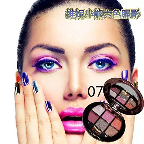 MZP ombre à paupières perle brillante diamant 6 couleurs maquillage nues couleurs de terre clignotent dans la composition de fin , black