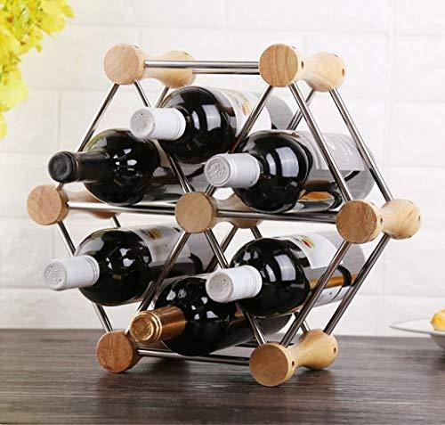 Estanterías de vino dkee Estante De Vino Estante De Vino Decoración Estante De Vino Estante De Exhibición De Vino De Vino Estante Estante De Botella Decorativo Estante De Vino Creativo Tamaño: 36.5 *