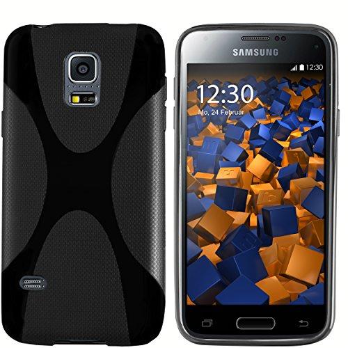 mumbi Hülle kompatibel mit Samsung Galaxy S5 mini Handy Hülle Handyhülle, schwarz